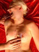 Blonde and waxplay