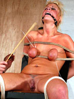 Blonde caned and branded