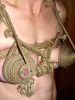 Tits tied and tortured